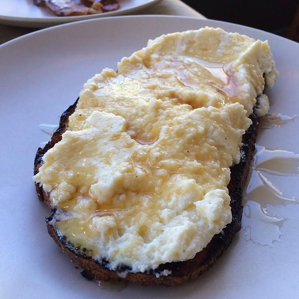 Bellwether Ricotta Toast + Lavender Honey - Hillside Supper Club, San Francisco, CA