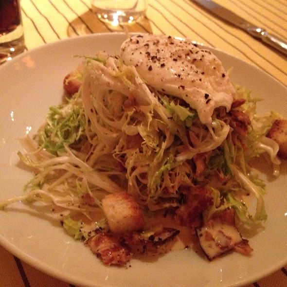 Frisee Salad With Poached Egg - Payard Patisserie & Bistro - Caesars Palace Las Vegas, Las Vegas, NV