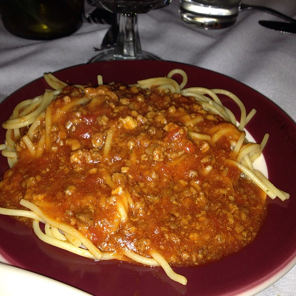 Spaghetti With Meat Sauce - Sabatino's Restaurant, Chicago, IL