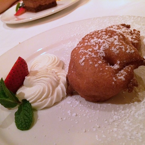Cinnamon Apple Beignet With Chantilly - Maison Akira, Pasadena, CA