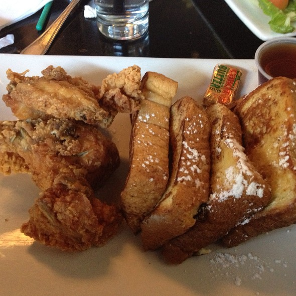 French Toast And Fried Chicken - Chocolat Restaurant & Bar, New York, NY