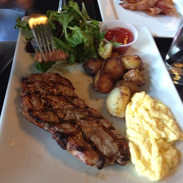 Steak and Eggs - Chocolat Restaurant & Bar, New York, NY