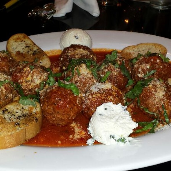 House Made Meatballs With Fresh Tomato Basil Sauce And Ricotta Cheese - SoLita & Mastino -  Permanently Closed, Delray Beach, FL