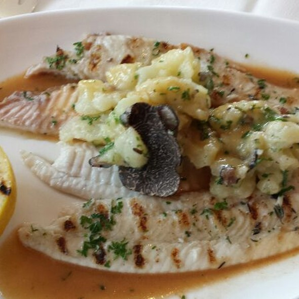 Grilled Dover Sole with Truffled Potatoes - La Panetiere, Rye, NY