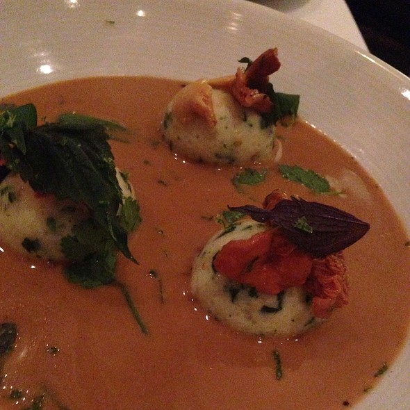Shrimp, Lobster, Crab Dumplings - Marché Moderne, Newport Beach, CA