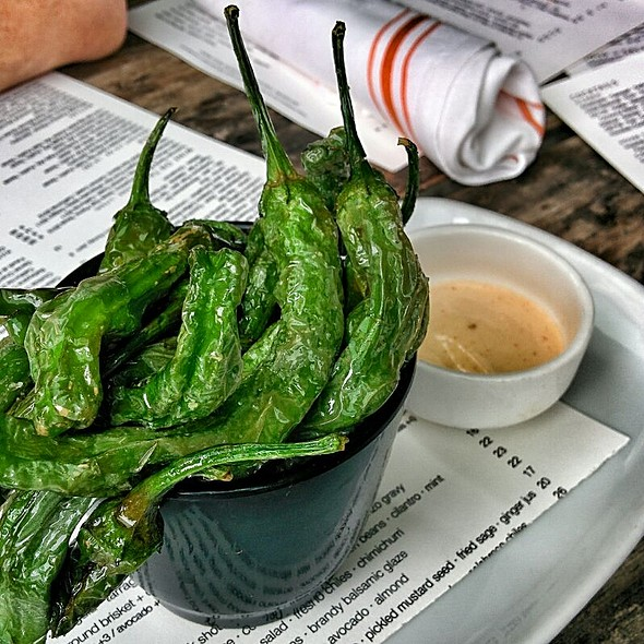 Blistered Shishito Peppers - Second Bar + Kitchen, Austin, TX