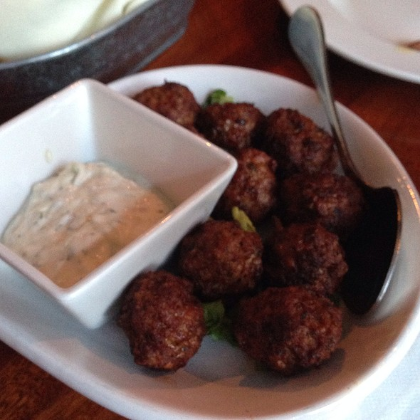 Meatballs With Tzatziki - Faros Restaurant, Brooklyn, NY