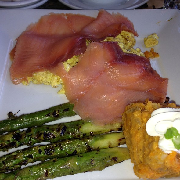 Smoked Salmon & Scrambled Eggs - Cafe Verona, Los Angeles, CA