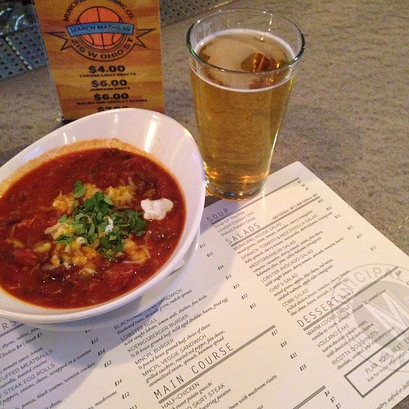 Chicken Chili - Municipal Bar + Dining Co., Chicago, IL