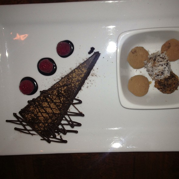 Chocolate Truffle Cake - Onyx Restaurant, Halifax, NS