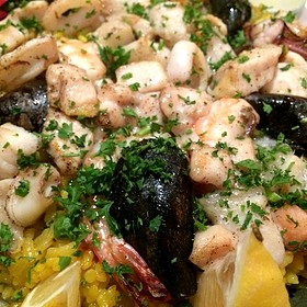 Paella Valenciana - Pamplona Tapas Bar and Restaurant, Lafayette, LA