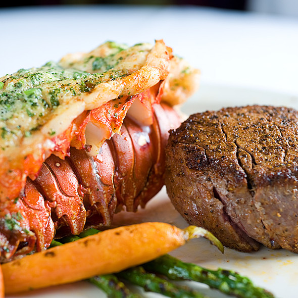 Steak and Lobster Tail - 21 Oceanfront, Newport Beach, CA