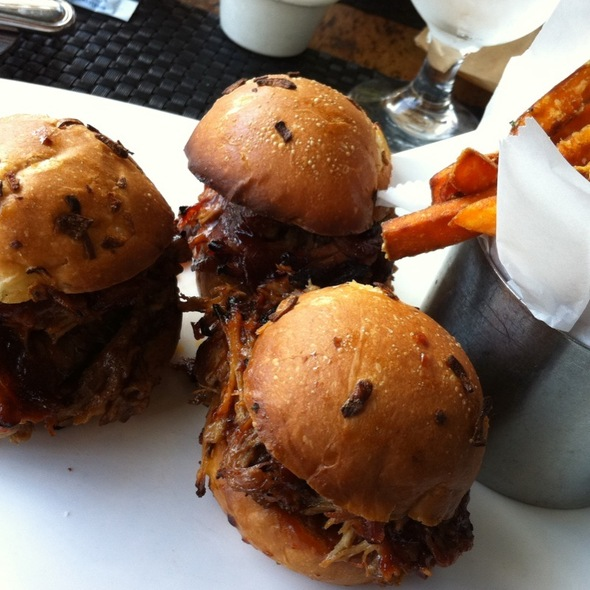 Pork Sliders With Sweet Potato Fries - 230 Forest Avenue, Laguna Beach, CA