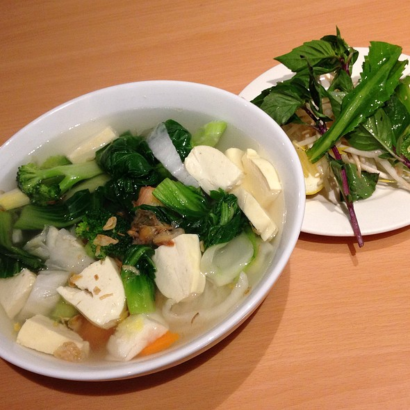 Rice Noodle Soup With Mixed Vegetables And Tofu - Xe Lua Vietnamese Restaurant, New York, NY
