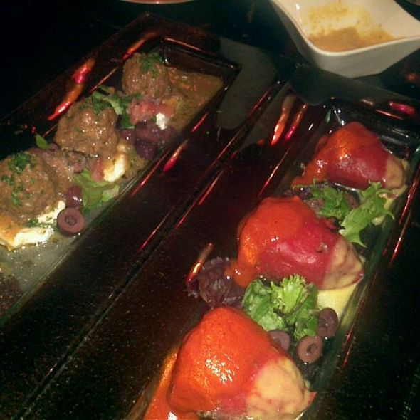 Morrocan Meatball & Stuffed Sweet Spanish Pepper - Evo Bistro, McLean, VA