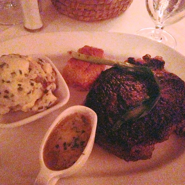 Ribeye With Goat Cheese Mashed Potatoes - Peninsula Grill, Charleston, SC