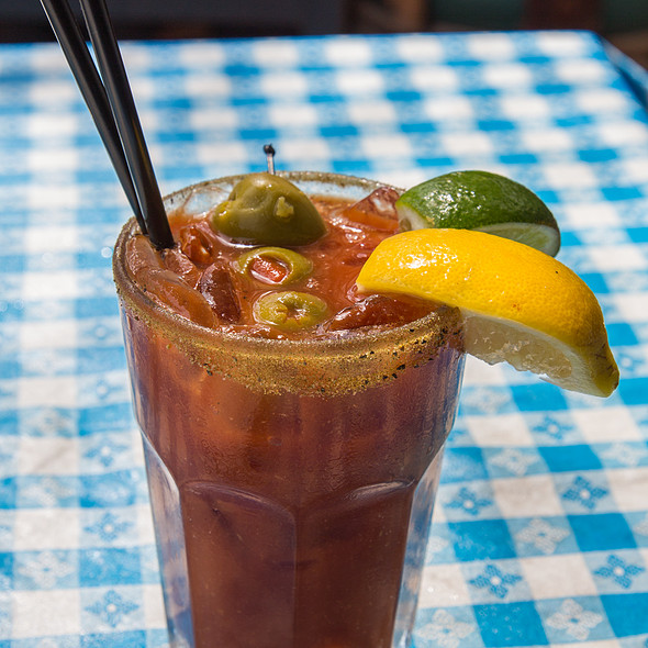 Bloody Mary - George's Greek Cafe - Pine Street, Long Beach, CA