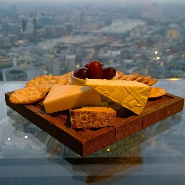 Cheese Platter - Vertigo 42 (champagne bar), London
