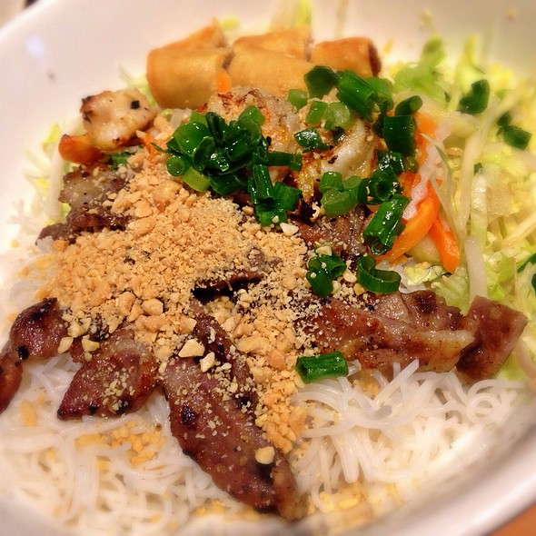 Vietnamese Grilled Pork And Spring Rolls On Rice Vermicelli - Xe Lua Vietnamese Restaurant, New York, NY