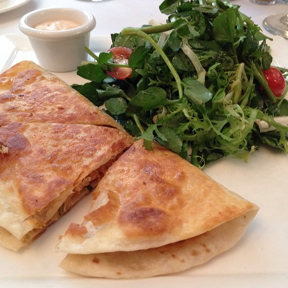 Chicken, Pumpkin And Goat Cheese Quesadilla - Sarabeth's Central Park South, New York, NY