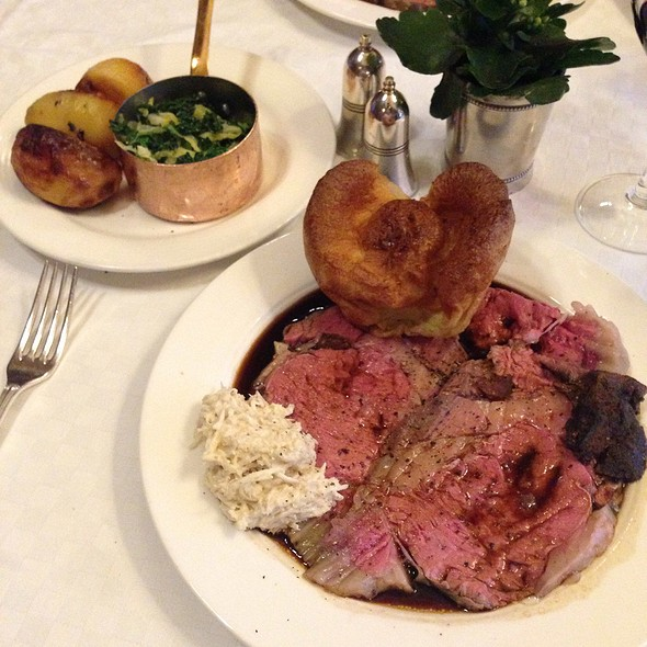 Roast Rib of Scottish Beef - Simpson's In The Strand, London