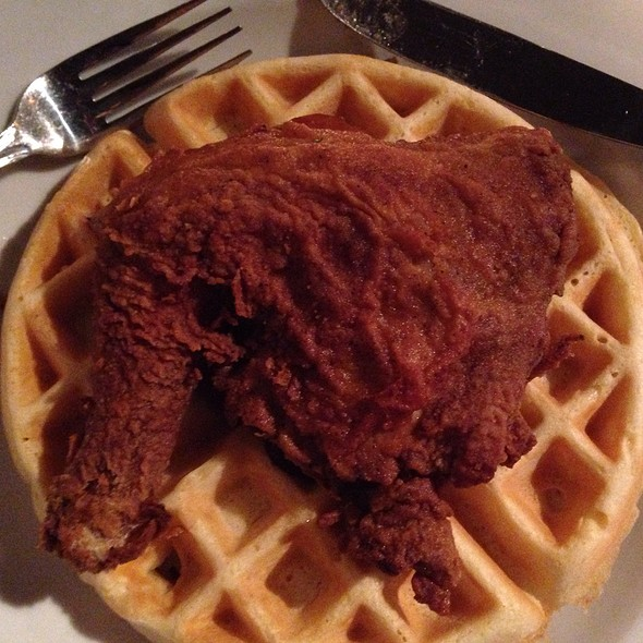 Fried Chicken And Waffle - Darryl's Corner Bar and Kitchen, Boston, MA