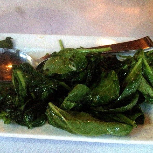 Sautéed Spinach - LG's Prime Steakhouse - Palm Springs, Palm Springs, CA