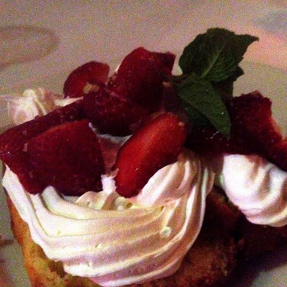 strawberry shortcake - LG's Prime Steakhouse - Palm Springs, Palm Springs, CA