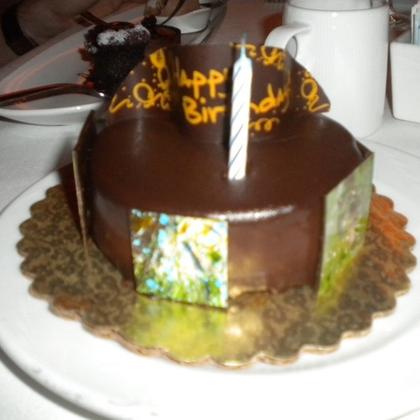 Happy Birthday Dessert - The View Restaurant, New York, NY