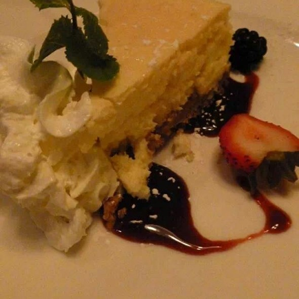 Key Lime Cheesecake With Rasperry Sauce - Mile High Steak & Seafood, Glen Mills