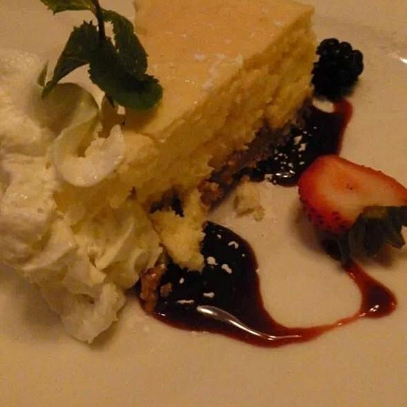 Key Lime Cheesecake With Rasperry Sauce - Mile High Steak & Seafood, Glen Mills