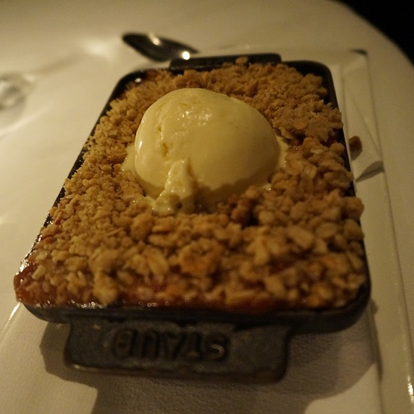 Rhubarb Crisp - The Village Pub, Woodside, CA