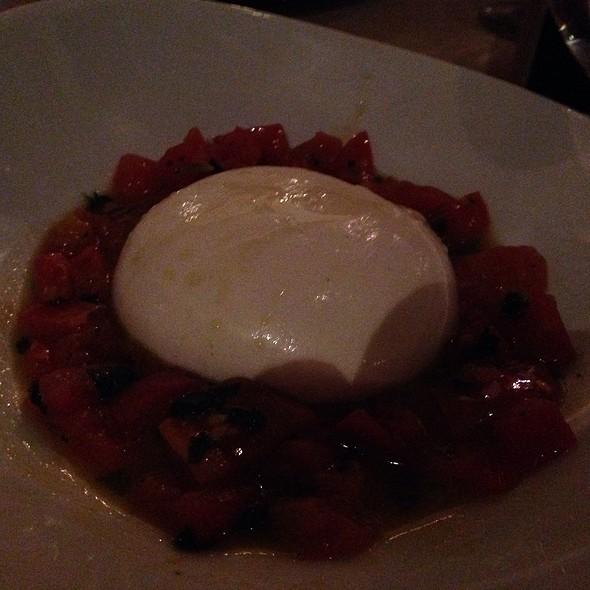 Burrata  With Warm Tomato - Antica Roma Trattoria Mozzarella Bar, Miami Beach, FL