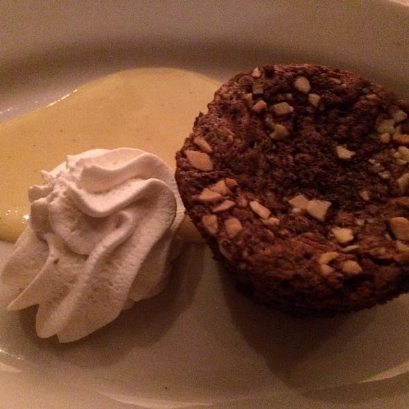 Flourless Chocolate Walnut Torte With Dewars Creme Anglaise - Mitchell's Fish Market - Rochester, Rochester Hills, MI