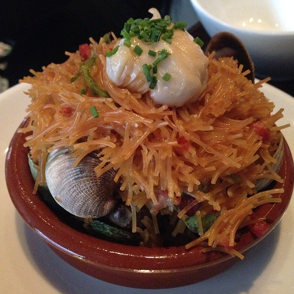 Fideos With Chorizo And Manila Clams - Casa Mono, New York, NY
