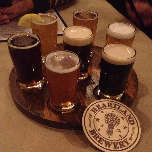 Beer Flight - Heartland Brewery Chophouse, New York, NY