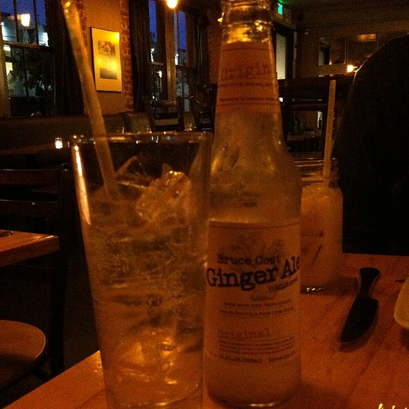 Ginger Ale - Gilberth's Rotisserie & Grill, San Francisco, CA