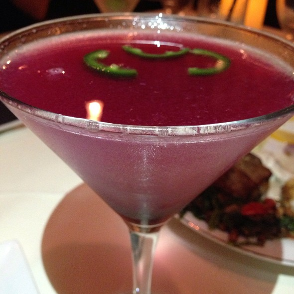 Peppers Infused Blueberry Martini - Chef's Table at the Edgewater, Winter Garden, FL