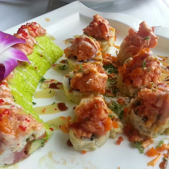 Flying Fish Roll And Volcano Roll - Imperial Koi Asian Bistro Sushi Bar, Greensboro, NC