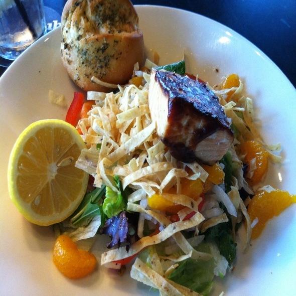 Fire Grilled Bbq Salmon Salad - Houlihan's - Prestonwood, Dallas, TX