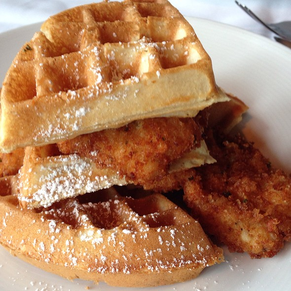Chicken and Waffles - Brenner's Steakhouse on the Bayou, Houston, TX