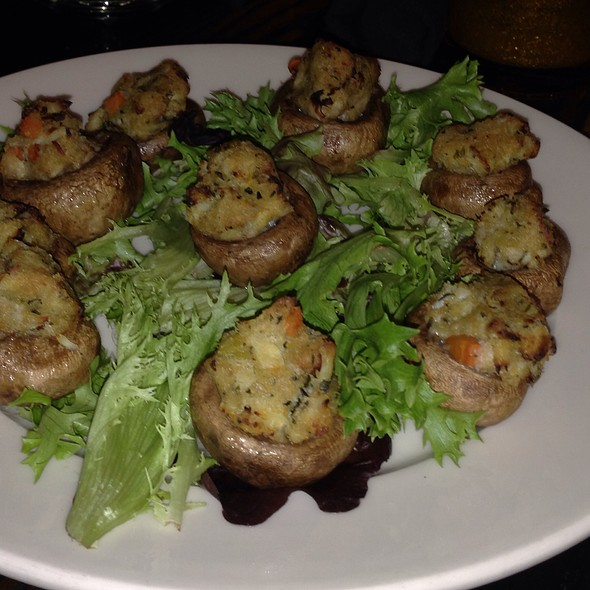 crab stuffed mushrooms - Stoddard's, Boston, MA