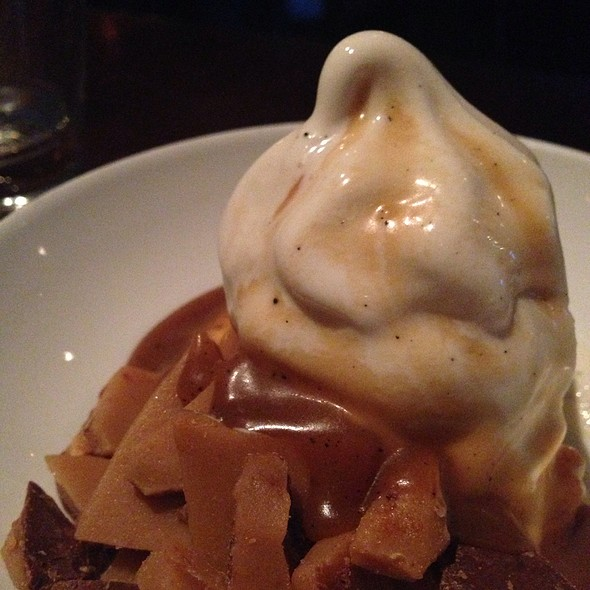 Vanilla Soft Serve With Tcho Milk Chocolate Toffee - Zero Zero, San Francisco, CA