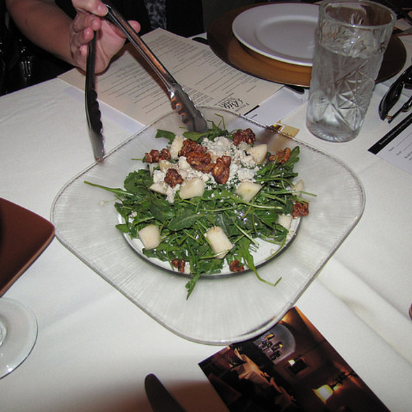 Pear & Arugula Salad - Favaloro's Big Night Bistro, Pacific Grove, CA