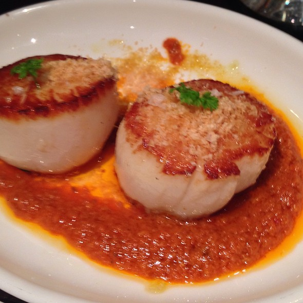 Seared Scallop With Romesco Sauce - Jaleo - The Cosmopolitan of Las Vegas, Las Vegas, NV