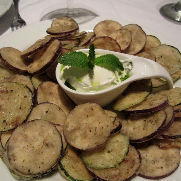 Fried Eggplant & Zucchini with Tzatziki - Nammos Estiatorio, Southampton, NY