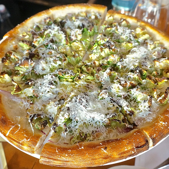 Brussels sprout pizza, pecorino romano, red onion - Balena Italian - Temporarily Closed, Chicago, IL