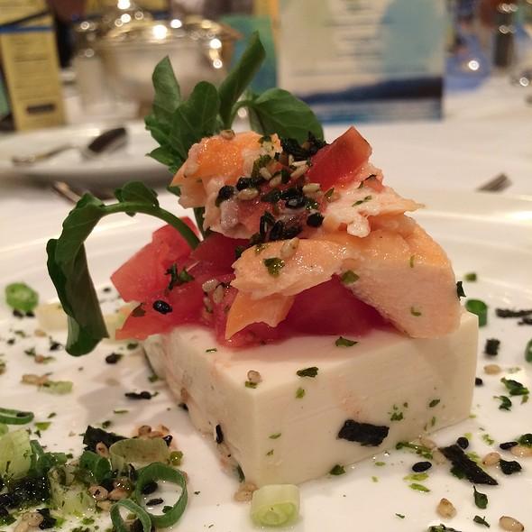 Tofu Salad With Salmon - Hawaii Prince - Hakone, Honolulu, HI