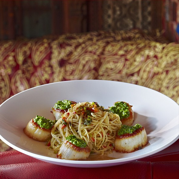 Angel Hair Milanese & Scallops - Foundation Room House of Blues Chicago, Chicago, IL