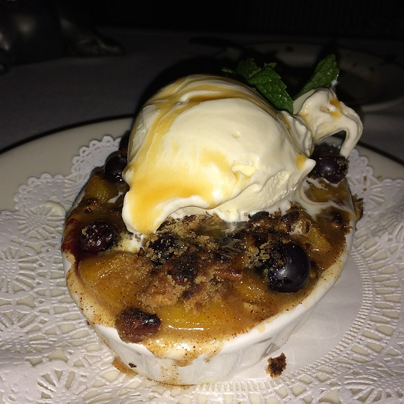 Peach and Blueberry Cobbler - Morton's The Steakhouse - Anaheim, Anaheim, CA